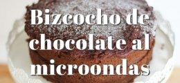 Bizcocho de chocolate al microondas